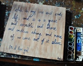 watercolor: custom canvas, ps i love you quote