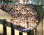 Horse Saddle Pad AP Shaped Giraffe Print Fleece with White Nylon Billets