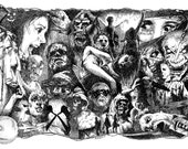 Horror Greats Collage PRINT large