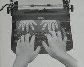 Vintage 1946 Royal Typewriter Touch Typing Lesson Instruction How To Book Booklet Royal Portable Ad Keyboard Letters Numbers