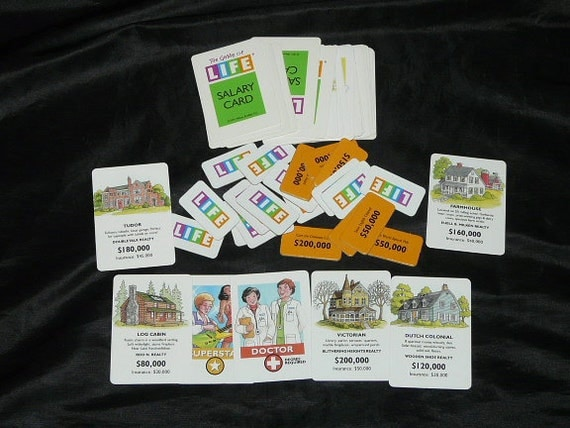 Life Board Game Cards