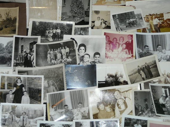 Families Vintage Lot 38 Family Snapshot Photos Families Picnic Vacation Reunion Wedding Parties Summer Party Holiday Black White Photographs