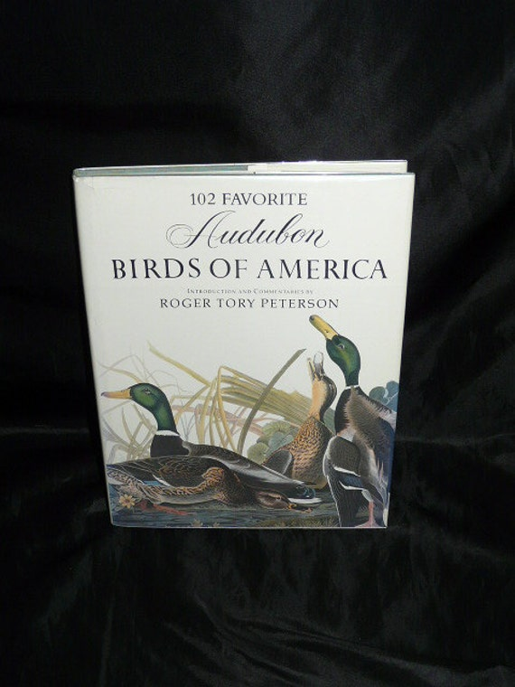 Audubon Birds of America Illustrated Book Color Prints Egret Flamingo Woodpecker Bald Eage Falcon HC Peterson
