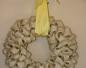 Shabby Chic Burlap Wreath