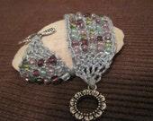 knitted bead cuff bracelet