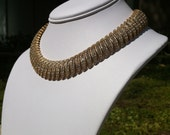 Vintage 1950's Ciner Gold and Rhinestone Necklace