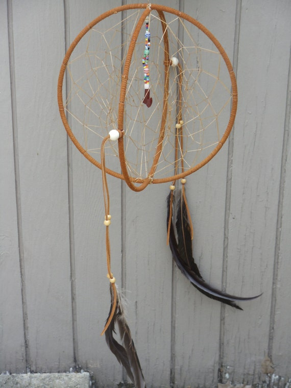 double dream catcher with tomahawk dangle by whichcraft4u