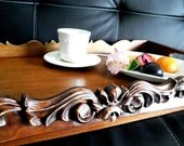 Breakfast Serving Tray, Handmade woodcarving, Great Family Gift
