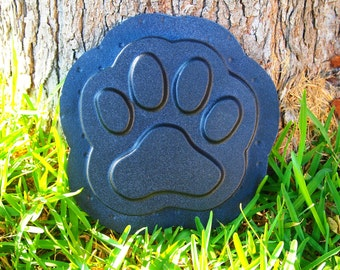 Paw Print Stepping Stone Mold Concrete Plaster Cement Plastic Mold New