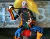 Rainbow Minstrel Art Doll On Sale