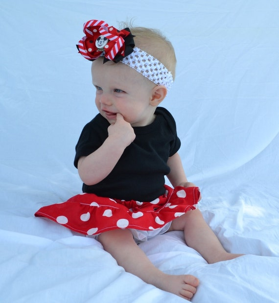 Minnie Mouse Red and White Polka Dot Ruffle Bloomers