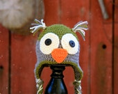 Custom sized owl hat for boys