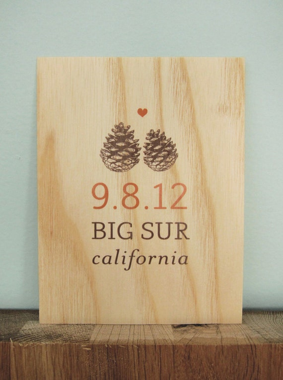 Custom Wooden Save-the-Date Postcard