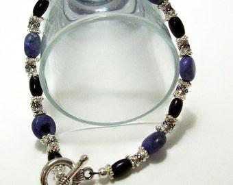 Sodalite and Black Onyx Bracelet