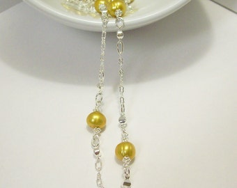 Harry Potter Inspired Hufflepuff Pearl Necklace