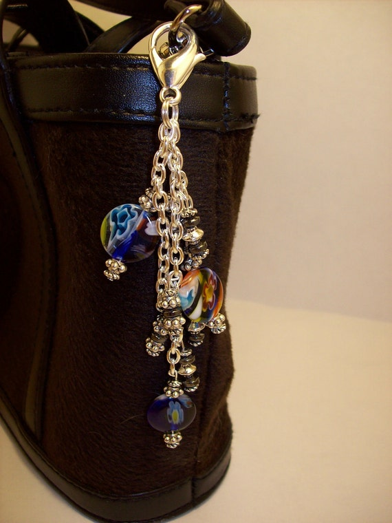 Millefiori Flower Purse Charm