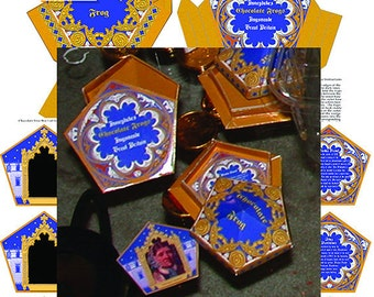 Chocolate Frog Boxes & Matching Cards - Digital Download