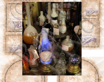 Set 1 Blank Wizard Potions Apothecary Alchemy Bottle Labels