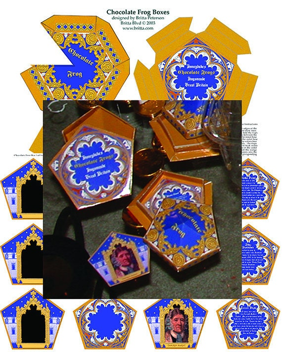 Chocolate Frog Boxes & Matching Cards Digital Download