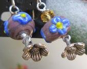 midnightflower ceramic earrings