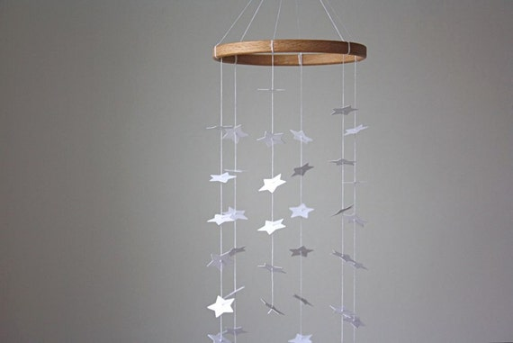 Star Mobile - White Star Mobile - Modern Baby Crib Mobile - White Star Galaxy - Free Shipping Etsy