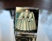 Glass Tile Adjustable Filigree Ring-Tudor Queen Elizabeth History World England Free USA Shipping