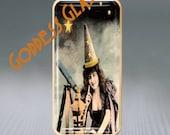 Puffy Glass Brooch Pin-Halloween Star Gazing Witch