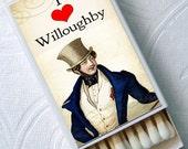 Jane Austen Sense and Sensibility Mr WILLOUGHBY Team Dashwood Novel Top Hats Set of 4 Match Boxes