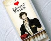 Jane Austen Sense and Sensibility Edward Ferrers Team Dashwood Novel Top Hats Set of 4 Match Boxes