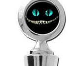 Cheshire Cat Evil Smile Grin Alice in Wonderland Wine Stopper House Warming Gift Trendy