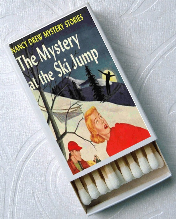 Nancy Drew Novel Detective Mystery Cool Geek Book Lover Party Favor Set of 4 Match Boxes