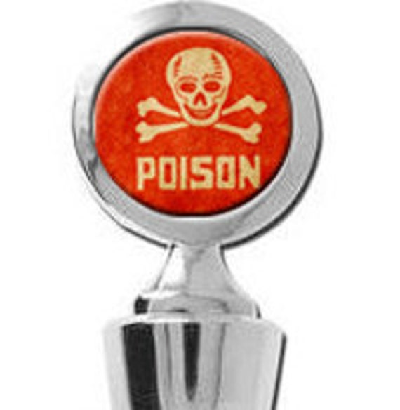 Poison Label Skull and Bones Weird Wine Stopper House Warming Gift Trendy Bridal shower