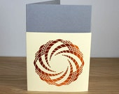 Loose Cover Greetings Card with a Geometric Foil Design