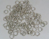8mm Antique Silver Jump Rings