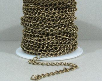 Curb Chain - Antique Brass - CH6