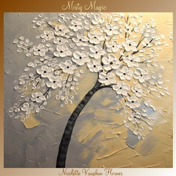 """BIG SIZE  30""""by 30"""" ORIGINAL oil/acrylic Impasto  painting  floral  by Nicolette Vaughan Horner  Free shipping"""
