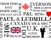"""A3 (16.5 x 11.7"""") 'The Story Of Us' Personalised Print, the perfect Wedding Gift"""