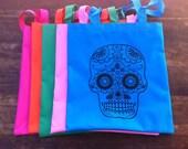 Sugar Skull Dia De Los Muertos Tote - Custom Color