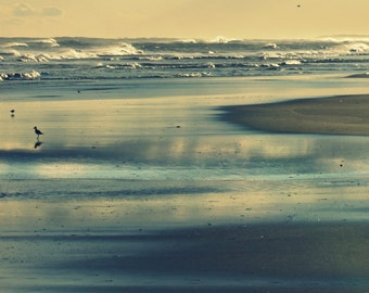 Ocean Printable Art | Seaside Decor | Beach Photography | Instant Download Beach Print | Ocean Waves Wall Art Printable | Sunset Outer Banks
