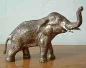 Vintage Brass Elephant Large