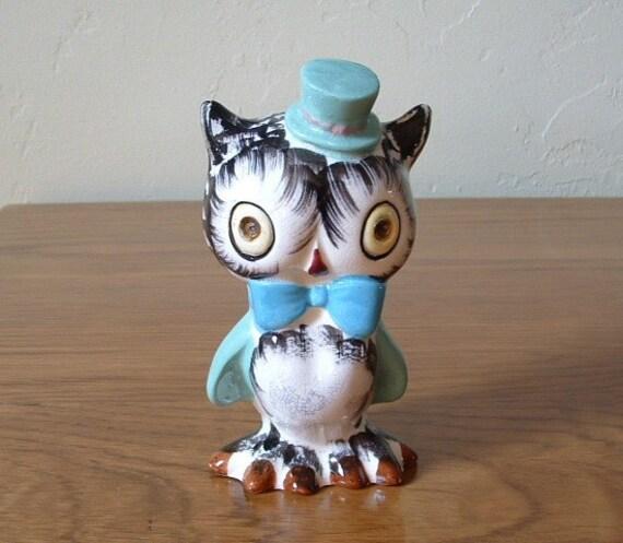 Vintage Owl Salt Pepper Shaker Japan Norcrest