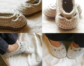 Crochet Patterns: Crochet Patterns for Yoke Ballet House Slippers for Mommy and Me Combo Pack (Two Patterns)