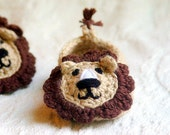 Baby Booties Crochet Pattern for  Lion House Slippers Pattern number 103 Instant Download