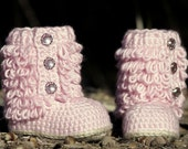 CROCHET PATTERN #201 Toddler Boot - Little Diva Loop Boot - Toddler sizes 4 - 9  - All Six sizes included - Instant Download pdf