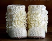 Crochet Pattern Baby Boot - Furrylicious loop boot  - Pattern number 200 Instant Download