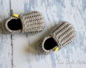 "Toddler Crochet Pattern for ""Jake"" Loafers - Toddler Sizes 4-9 Pattern number 115 Instant Download"