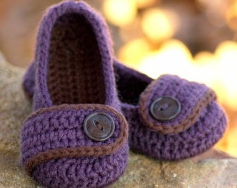 CROCHET PATTERN #206 Toddler  Valerie Slipper -  Toddler Sizes 4 - 9 - All Six sizes included - Instant Download pdf  kc550