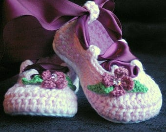 Crochet Baby Pattern Ballerina Ballet booties PDF - Pattern number 202 Instant Download kc550
