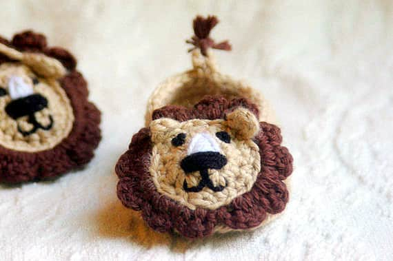 Crochet Pattern - Baby Lion House Slippers Pattern 103 - Instant Download
