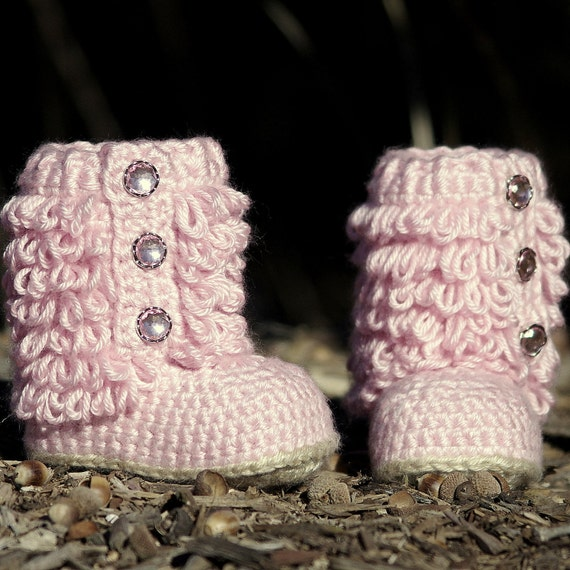 CROCHET PATTERN #201 Toddler Boot - Little Diva Loop Boot - Toddler sizes 4 - 9  - All Six sizes included - Instant Download pdf  kc550